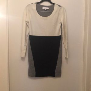 French Connection colorblock sweater dress in sz4